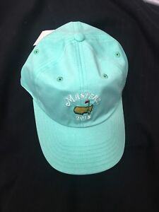 38fa1331e34df8 2018 MASTERS (Mint Green) Slouch Golf HAT from AUGUSTA NATIONAL ...