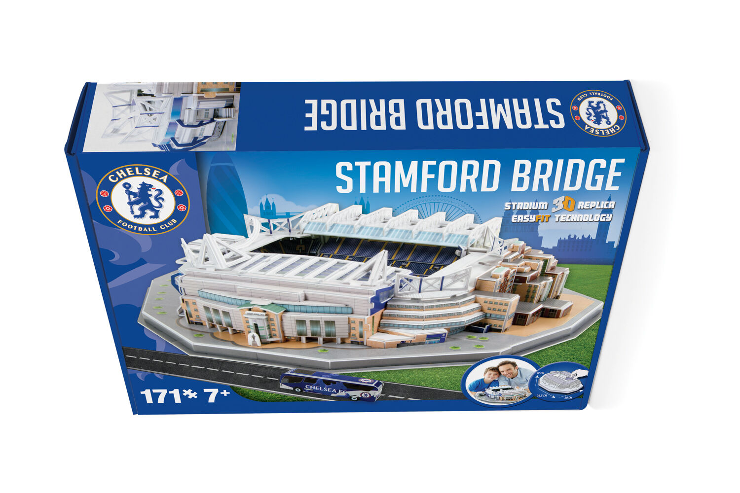 Stamford Bridge  Build your Own Chelsea Stadium 3D Model Jigsaw Puzzle. New