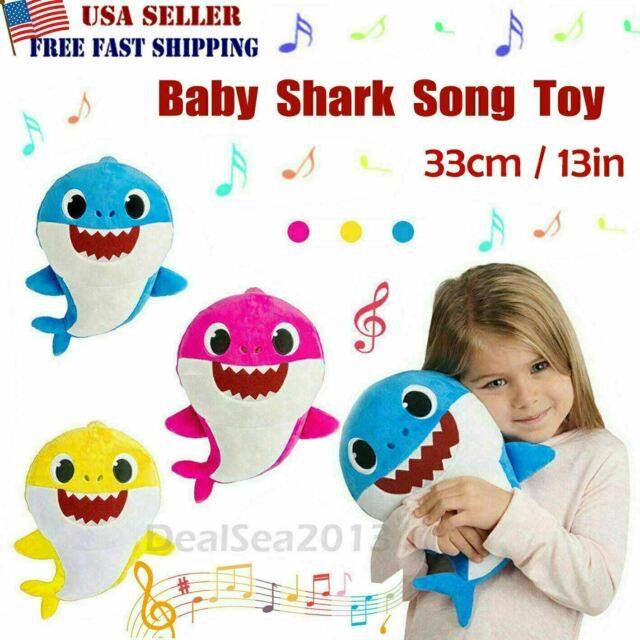 Baby Shark Plush LED Plush Toys Music Doll Sing English Song Baby/'s Kids/'s Gift