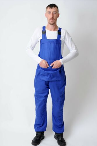 Dungarees Coveralls Warehouse coats White Navy Men/'s Bib and Brace Overalls