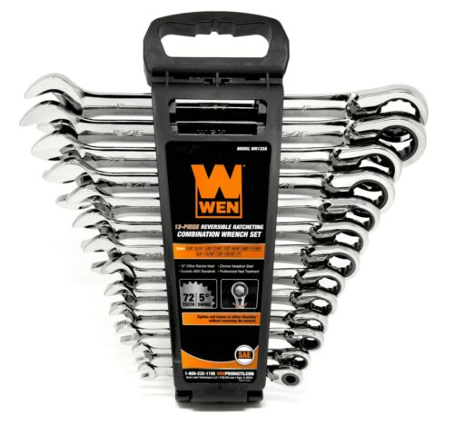 WEN WR132A 13-Piece Reversible Ratcheting SAE Combination Wrench