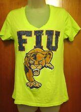 FLORIDA INTERNATIONAL UNIVERSITY womens lrg tee FIU sexy V-neck T shirt Panthers