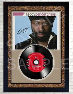 Teddy-Pendergrass-Greatest-Hits-MUSIC-SIGNED-FRAMED-Print-and-Mini-LP-Vinyl
