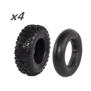 4x-4-10-x-3-50-6-039-039-Wheel-Tyre-Tire-with-Tube-fit-Go-kart-Quad-Buggy-Mower
