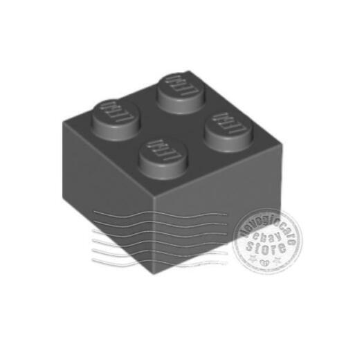 4x LEGO 3003 Mattoncino 2x2 Grigio scuro4211060
