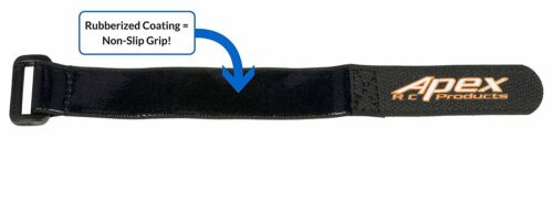 5 Pack #3030 Apex RC Products 20mm X 200mm HD Rubberized Battery Straps