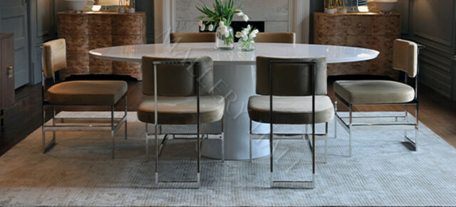 Extending Round Oval Dining Set White Gloss Table 6 Medium Grey Chairs For Sale Online Ebay