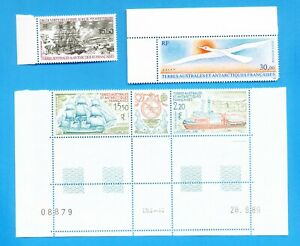FRENCH-SOUTHERN-ANTARCTIC-TERRITORY-Scott-C110-C113-with-labels-1990