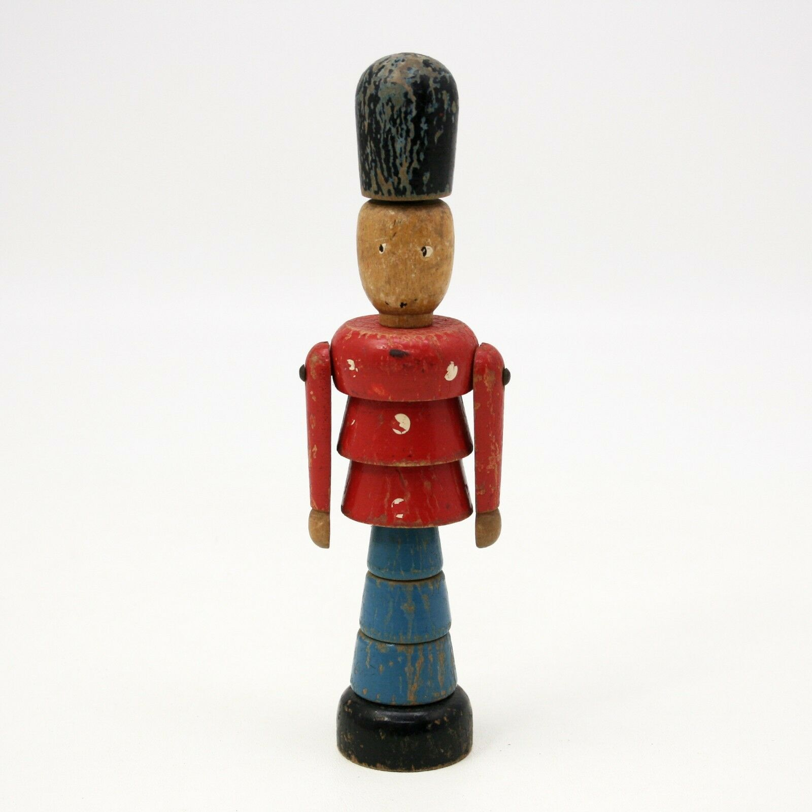 De Colección de madera de apilamiento de Soldado De Juguete De Madera Tallada bloques Peg Inglés Royal Guard Puzzle