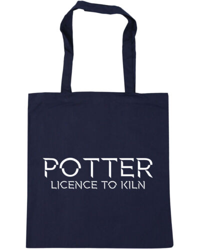 10 litres Potter Licence to Kiln Tote Shopping Gym Beach Bag 42cm x38cm