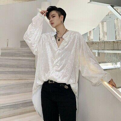 HANA+DORA Mens Long Sleeve Casual Striped Button Down Dress Shirt Tops Blouses