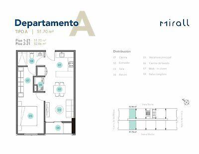 Departamento en Venta en Mirall, Monterrey, 1 recámara.