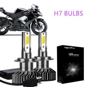 Details About H7 Led Headlight For Kawasaki Zx10r 650r 636 Zx6r 250r 300 Ninja