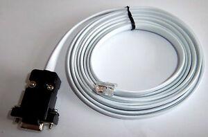 NEW UNITRONICS RS232 DSUB9 TO RJ12 PLC PROGRAMMING CABLE