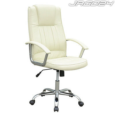 High Back Executive Office Computer Desk Chair Faux Leather Seat Adjustable