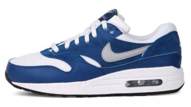 [NEU] Nike Air Max 1 (GS) Gr 38 38,5 white/wolf grey/gym blue/black 555766 111