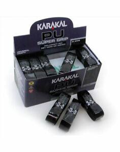 Karakal-PU-Super-Grip-Da-Badminton-Tennis-Racchetta-Da-Squash-Grip-x-24-Nero