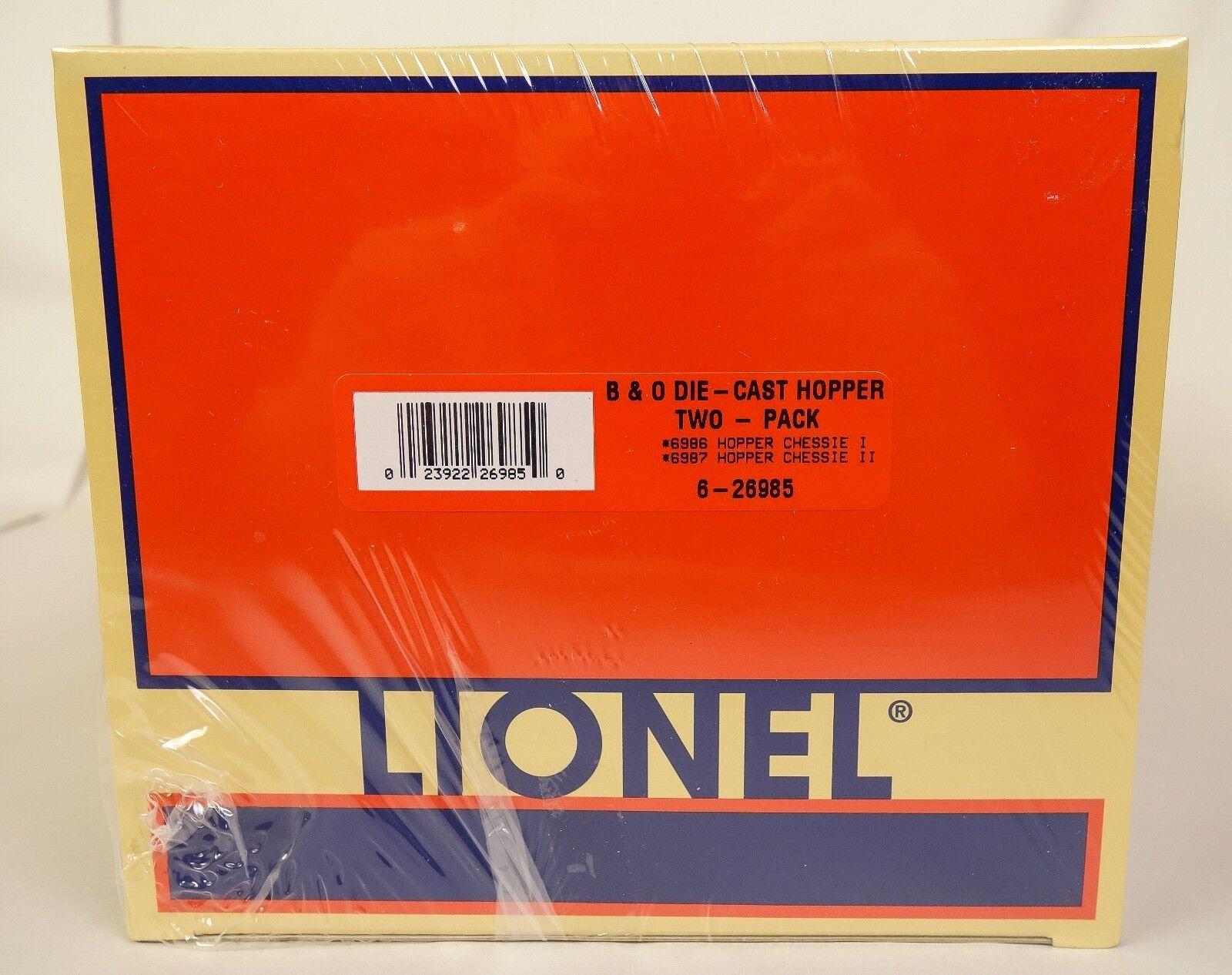 LIONEL  6-26985 BALTIMORE & OHIO DIE-CAST HOPPER SET W/CHESSIE 1 & 2-SEALED