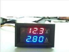 DIGITAL VOLTMETER AMMETER DC 0-100V 10A DUAL LED RED BLUE MONITOR PANEL BE0120