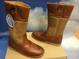 6// Women Size 7 Timberland Premium Leather Zipper Riding Boots Youth Size 5 8