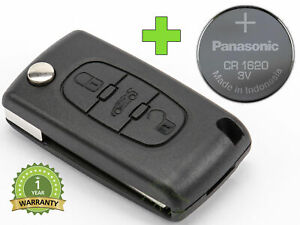 REMOTE-CONTROL-KEY-for-PEUGEOT-207-307-407-507-607-BOXER-PARTNER-CR1620-BATTERY
