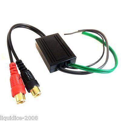 Ctloc 4 coche 4 Canal Cable de altavoz a 4 convertidor de línea de salida RCA de nivel bajo