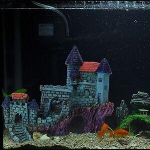 Details about Resin New Great Wall Castle Villas Aquarium Ornament Fish  Tank Decoration Cave