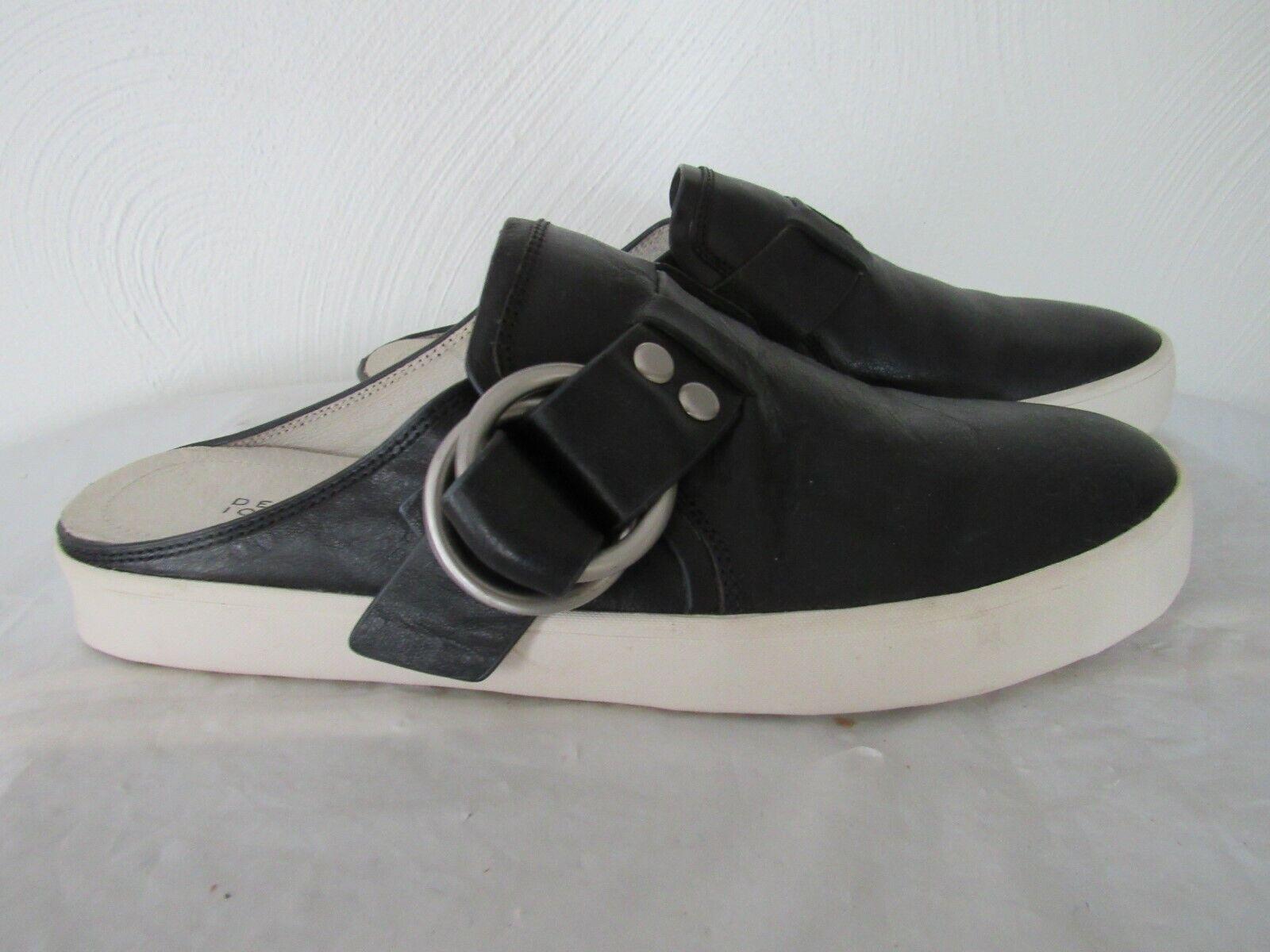 Derek Lam 10 Crosby chaussures en Cuir noir Slip-On Mule Turnchaussures Studds Boucle sz. 8