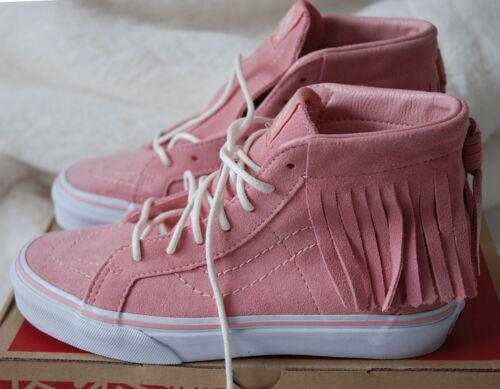 Sk8 Vans top 2 de de hi flecos Zapatillas Moc Girls 5 Jnr gamuza rosa con hi en ante cuero r5xOwYarq1