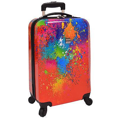 "US Traveler Fashion Art Paint Splatter 21"" Carry-on Spinner Luggage Suitcase Bag"