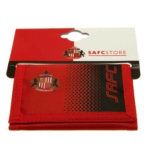 Sunderland Official Crested Red Nylon Wallet With Multiple Slots Zip Pocket