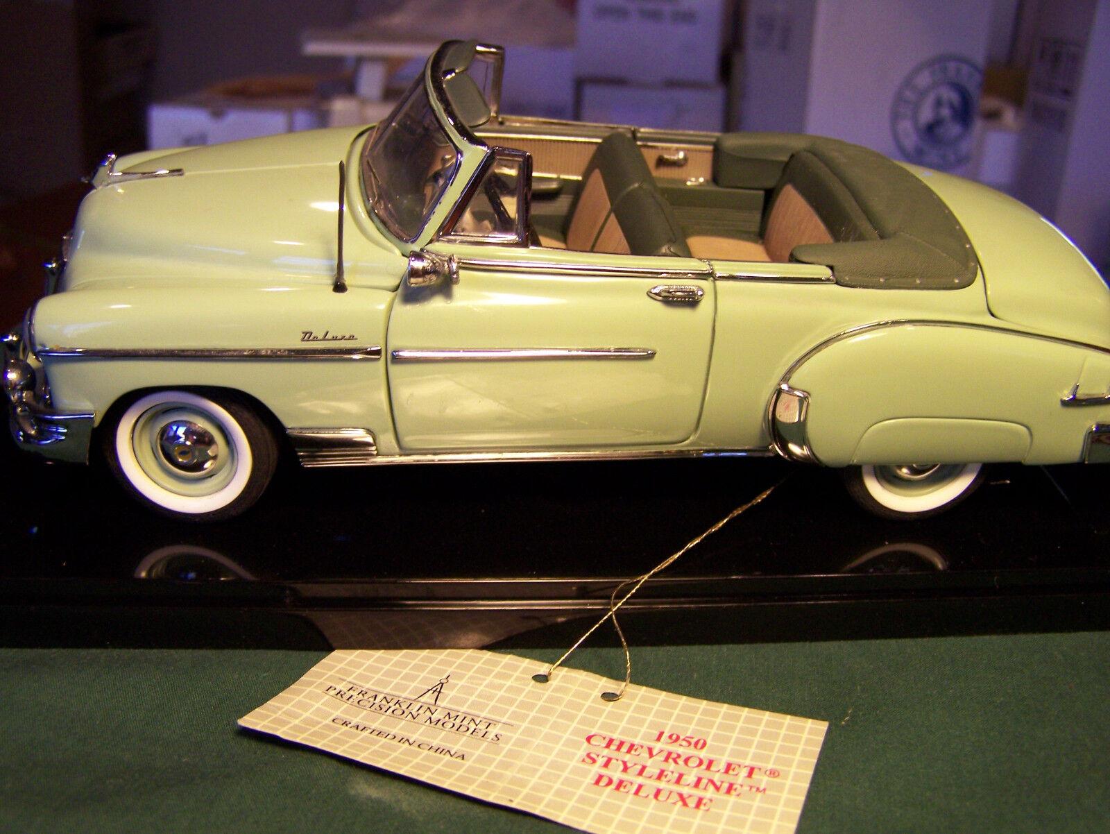 Einer von franklin mint Grün 1950 chevrolet - deluxe - cabrio mit klarer fall