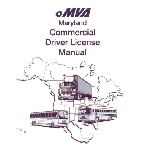 MARYLAND COMMERCIAL DRIVER MANUAL FOR CDL TRAINING ON CD IN PDF PROGRAM.