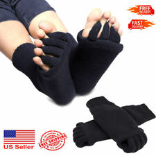 Black Toe Separator Straightener Socks Bunion Foot Alignment Pain Relief USA