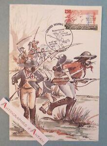 Bicentenaire-Bataille-de-CHOLET-Dessin-Cathy-Antier-carte-postale-Maine-Anjou