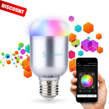 E27 Wireless Bluetooth Control Music Audio LED RGB Energy Smart Bulb Light Lamp