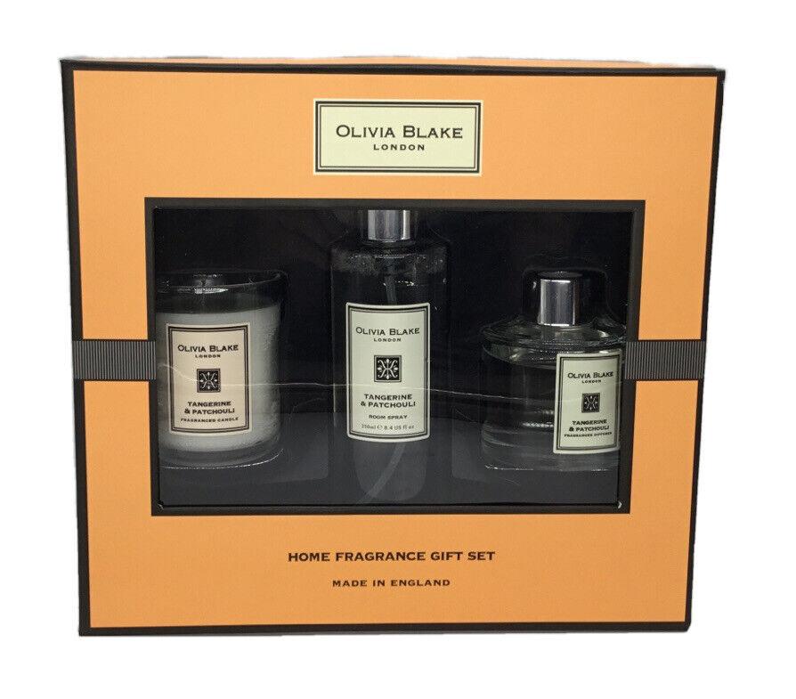 New Olivia Blake London Tangerine Patchouli Diffuser Room Spray Candle Set Ebay