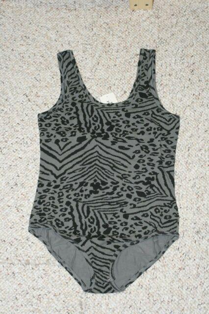 Black and gray leopard bodysuit
