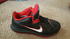 Men's red and black LeBron shoes size
