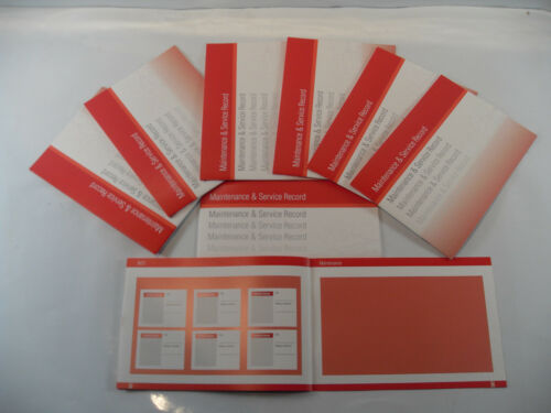Replacement Generic Service History Book Suitable For Seat  Red