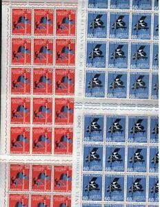 S22220) Italy 1958 MNH New P. Italy 2v Sheet Folded (x2) Note