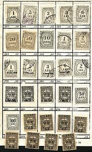 29 ROMANIA REVENUES Collection Tax Stamps Lightly Hinged on page