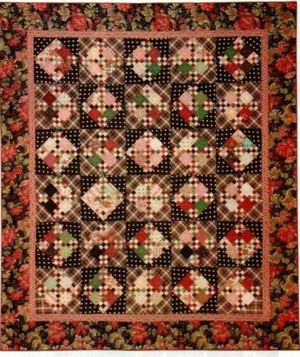 Milk Chocolate Cherries Quilt Pattern Pieced LA