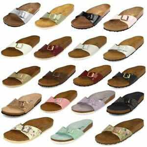 save off 5068b 8cd0b Details zu Birkenstock Madrid Schuhe Sandalen Pantoletten Birko-Flor Saison  Farben