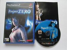 Project Zero For Sony Playstation 2 / PS2 Game Complete PAL - 2002 Horror