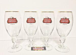 Stella-Artois-Belgium-Lager-Chalice-Glasses-Set-of-Four-4-40-cl-Brand-New
