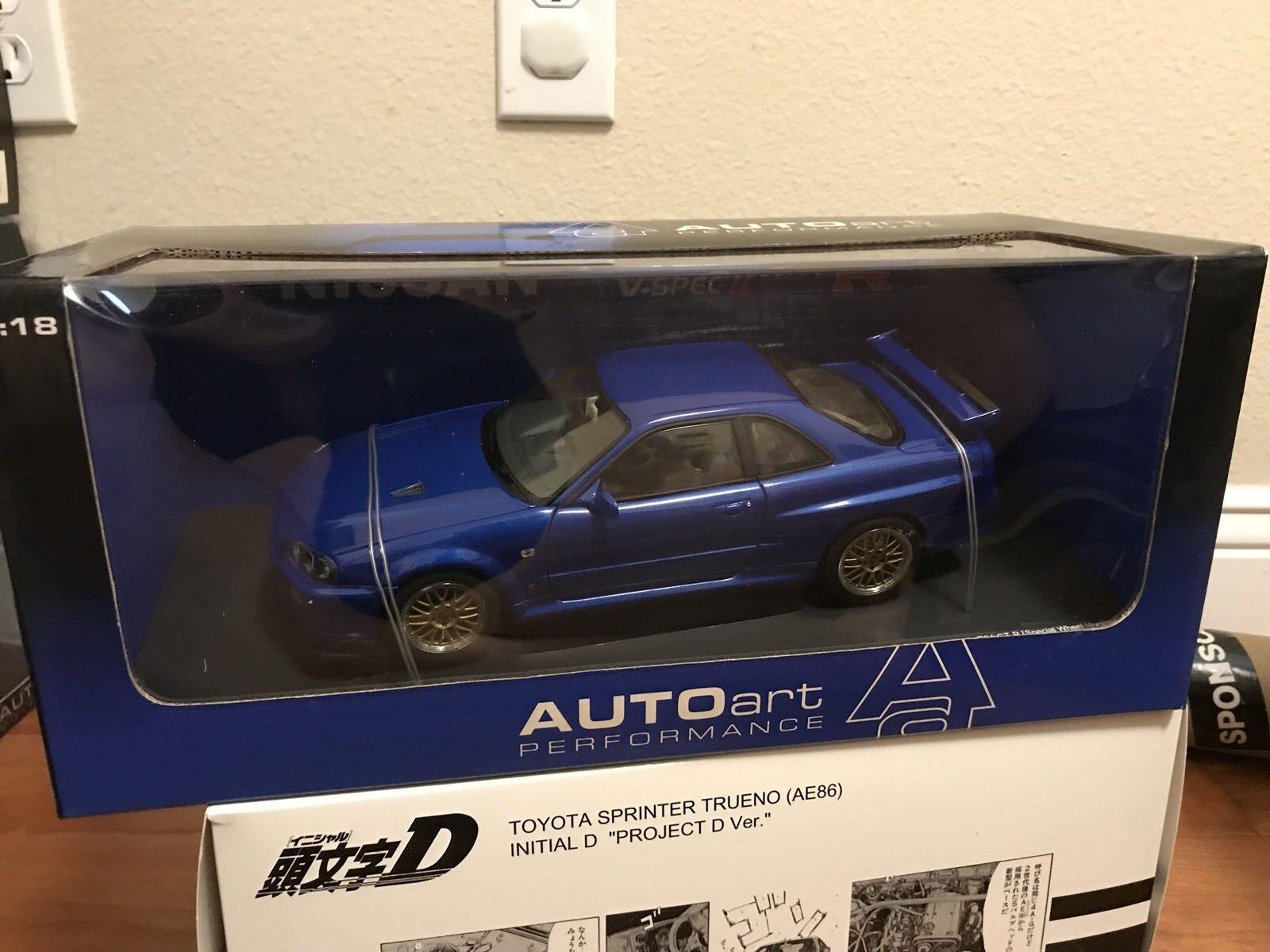 Autoart 1 18 Nissan Skyline R34 GT-R-J oro Bbs  500