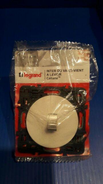 Céliane 1 interrupteur va et vient a levier Blanc Legrand 99726