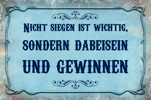 Not Siegen Is Important Tin Sign Shield Arched 20 X 30 CM CC0666