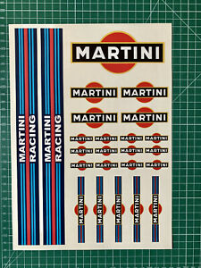 Planche-stickers-MARTINI-x24-racing-decals-voiture-lemans-rally-stripe-racing